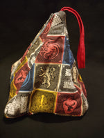 House crest triangle bag