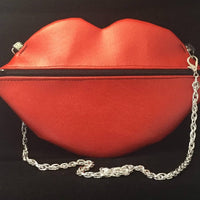 red lips bag, vinyl