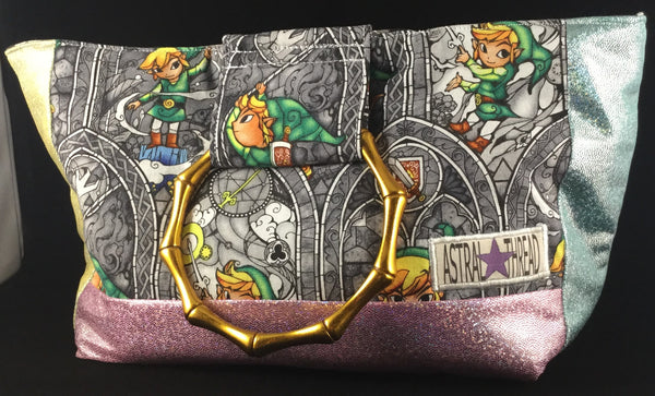 LoZ handbag with metal handles