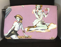 zombie pin up messenger bag, large