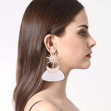 Load image into Gallery viewer, The Sun & Moon Tassel Earrings, , Moxie Jewellery, Moxie Jewellery - Moxie Jewellery