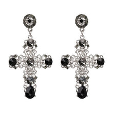 Load image into Gallery viewer, Cross Drop Earrings, , Moxie Jewellery, Moxie Jewellery - Moxie Jewellery