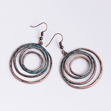 Load image into Gallery viewer, Swirly Circle Earrings, , Moxie Jewellery, Moxie Jewellery - Moxie Jewellery