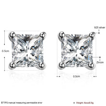 Load image into Gallery viewer, Square Zircon Stud Earrings, , Moxie Jewellery, Moxie Jewellery - Moxie Jewellery