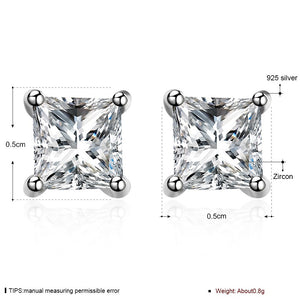 Square Zircon Stud Earrings, , Moxie Jewellery, Moxie Jewellery - Moxie Jewellery