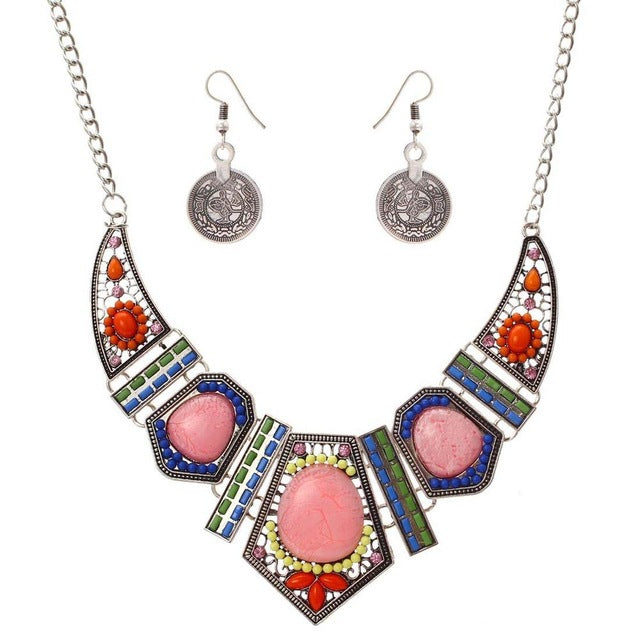 Pink Stoned Set, , Moxie Jewellery, Moxie Jewellery - Moxie Jewellery