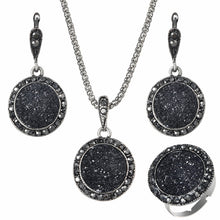 Load image into Gallery viewer, Black Gem Pendant Set, , Moxie Jewellery, Moxie Jewellery - Moxie Jewellery