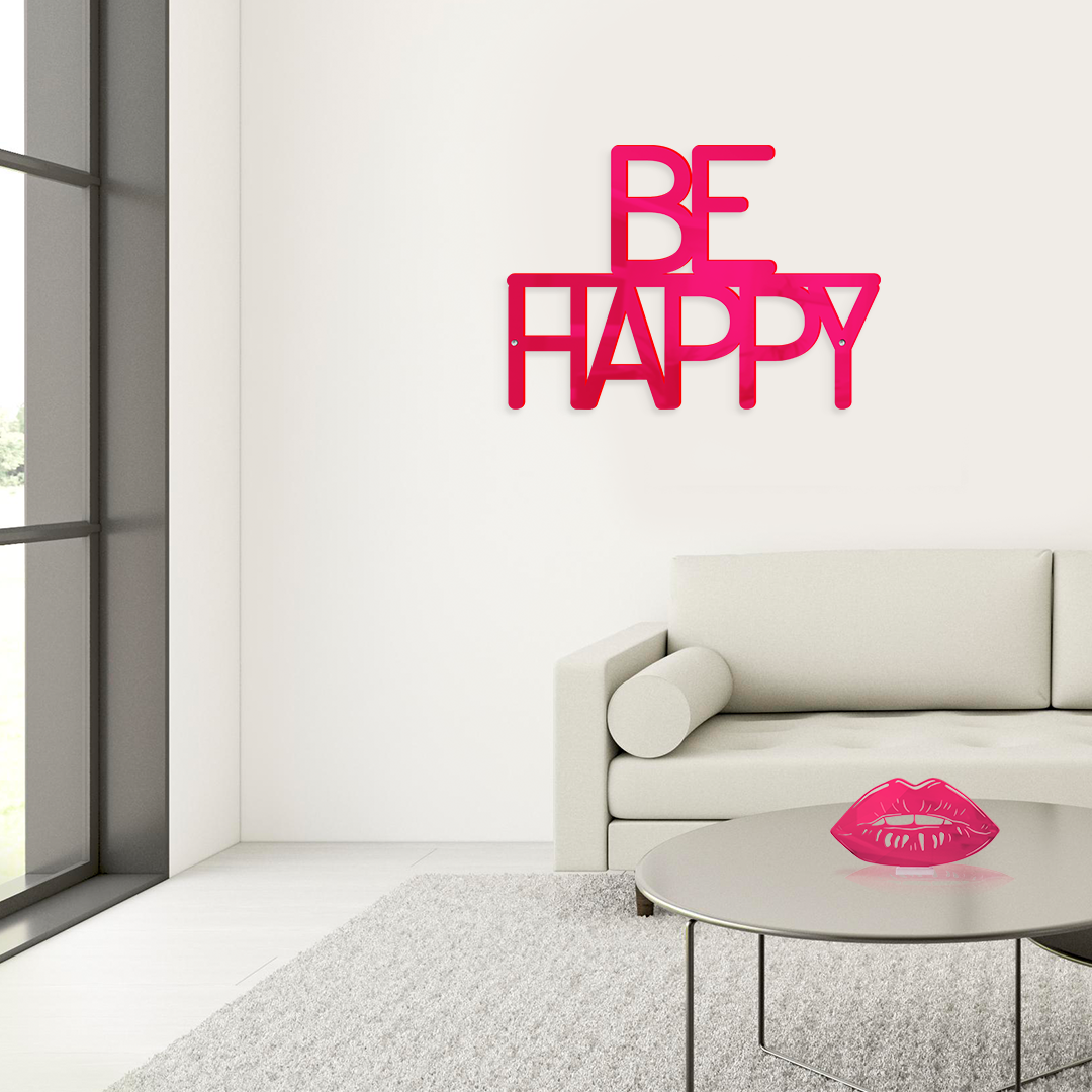 BE HAPPY NEON