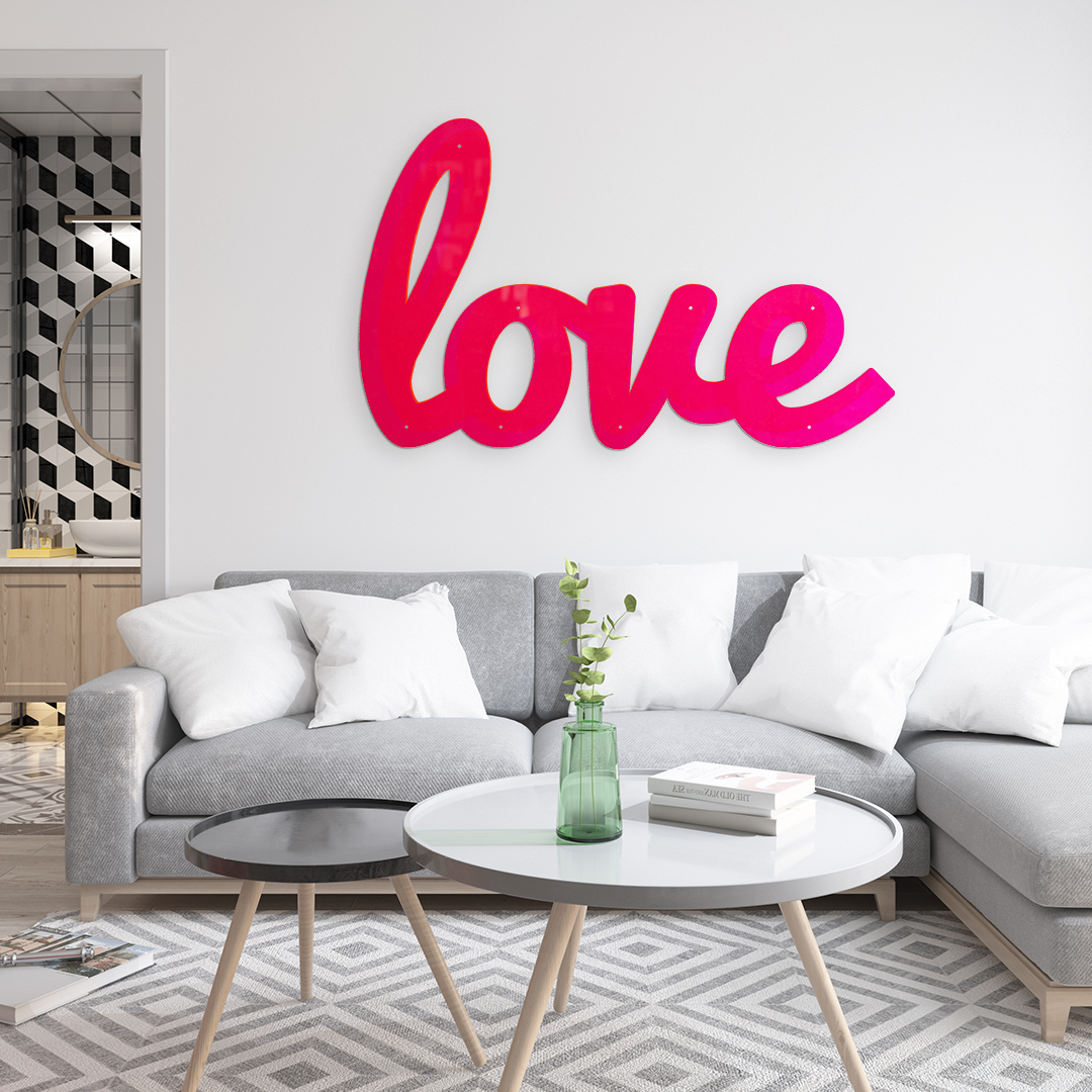 BIG LOVE WALL SCULPTURE