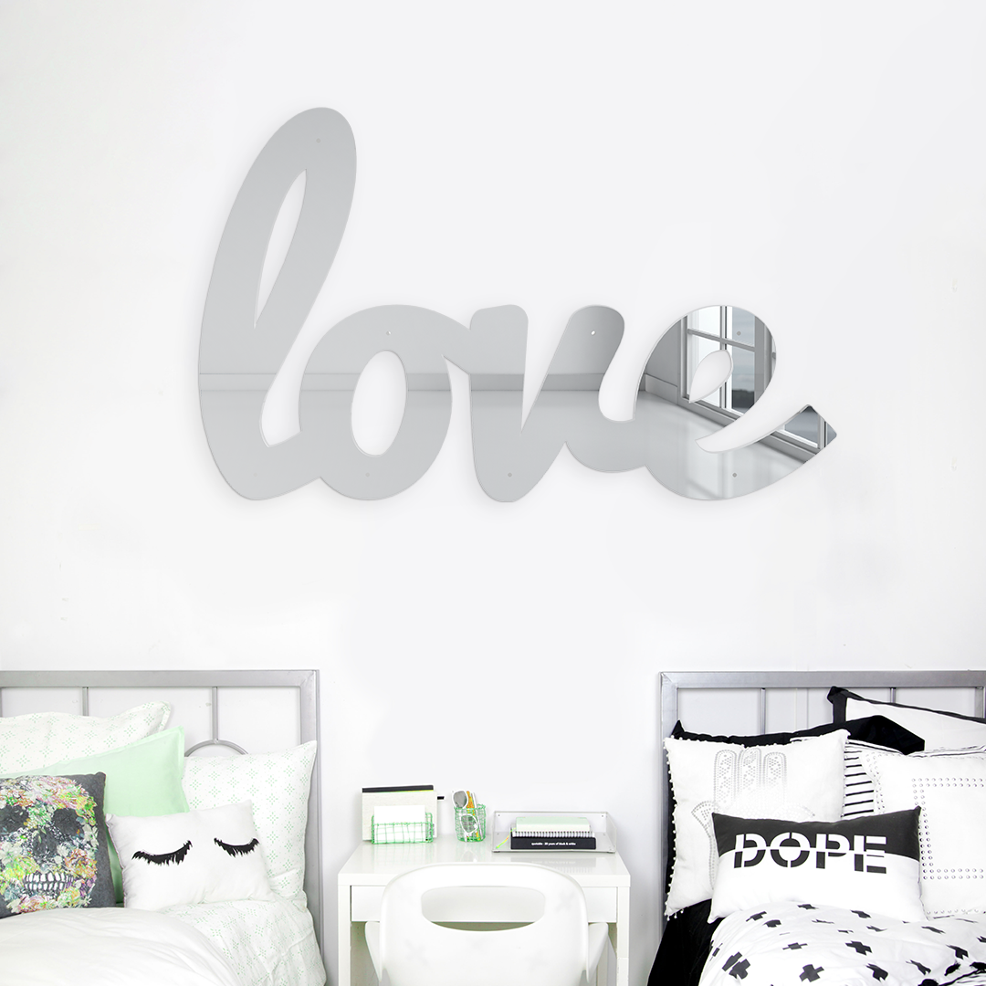 BIG LOVE MIRROR WALL SCULPTURE