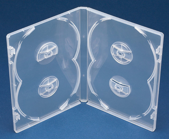 Quad (4) DVD Case with Overlap (D4NC)