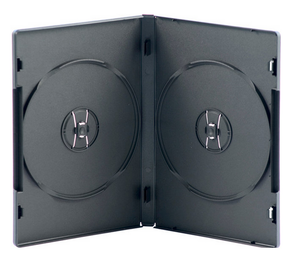 Double DVD Case (No Tray) 14mm Black (D2NB-11) 100s
