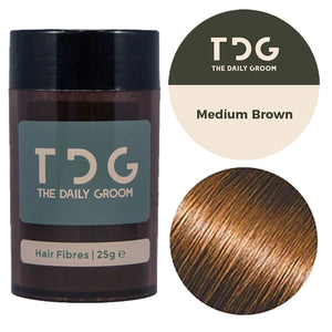 "50g - The spare one <br><font color=""#D1A827"">4 months supply</font><!-- The Daily Groom Hair Fibres --><br><strong>FREE Delivery</strong>"