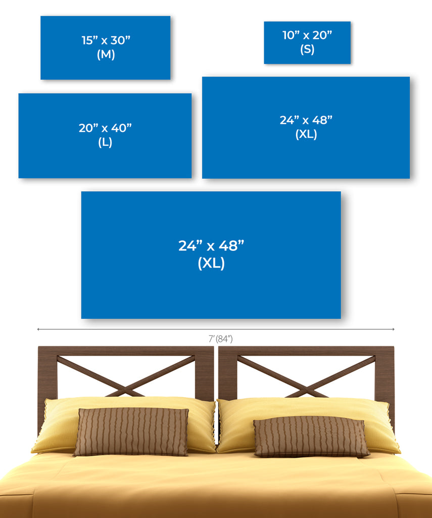 Size Chart for 2x1 Panoramas