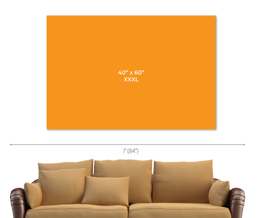 Size Chart for 40x60 inch horizontal print