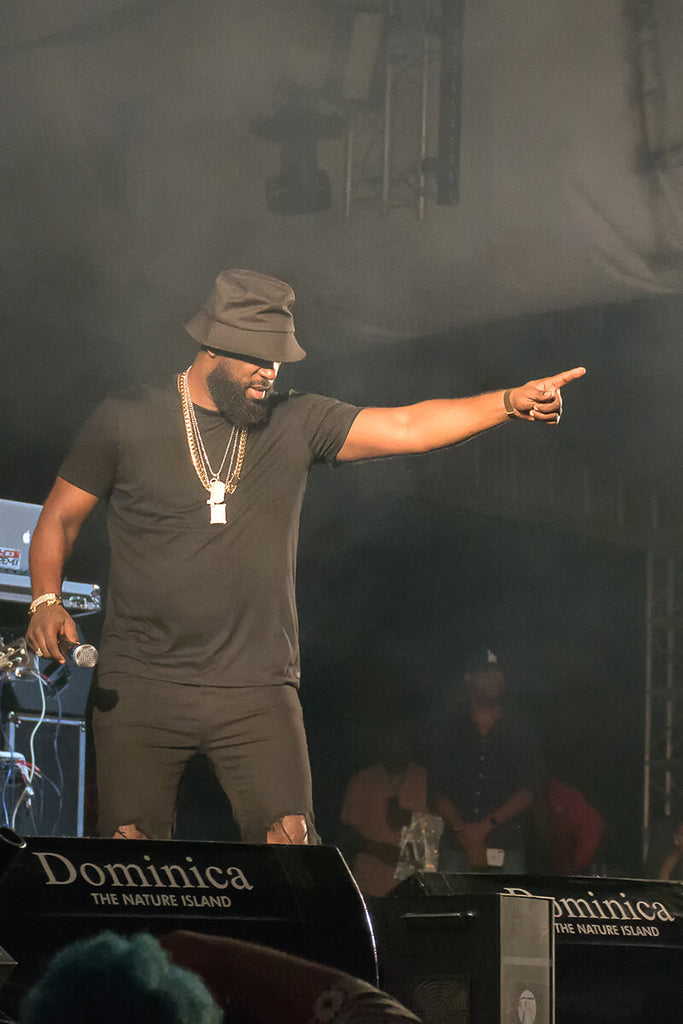 Bunji Garlin pointing to the crowd, WCMF 2019