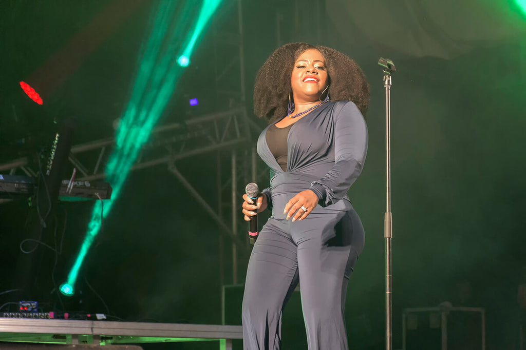 Etana struts across the stage at WCMF 2019