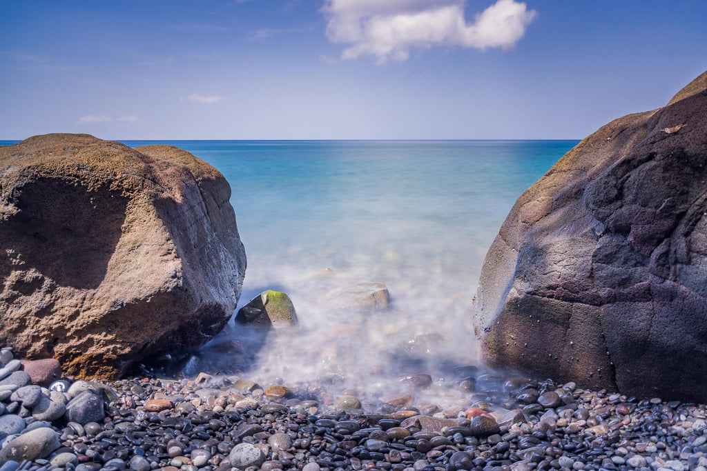 Beach near Rodney's Rock, Dominica