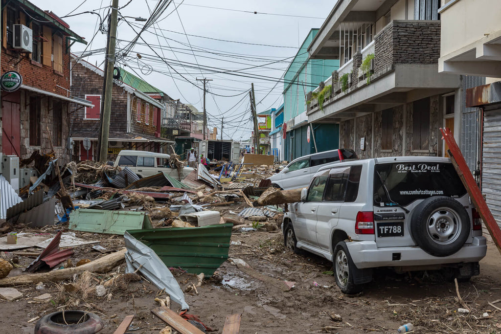 Streets of Roseau after Hurricane Maria