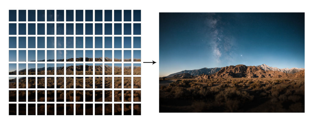Large format photo created by stitching - Ian Norman