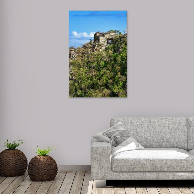 Canvas print of Brimstone Hill Ruins II by Yuri A Jones
