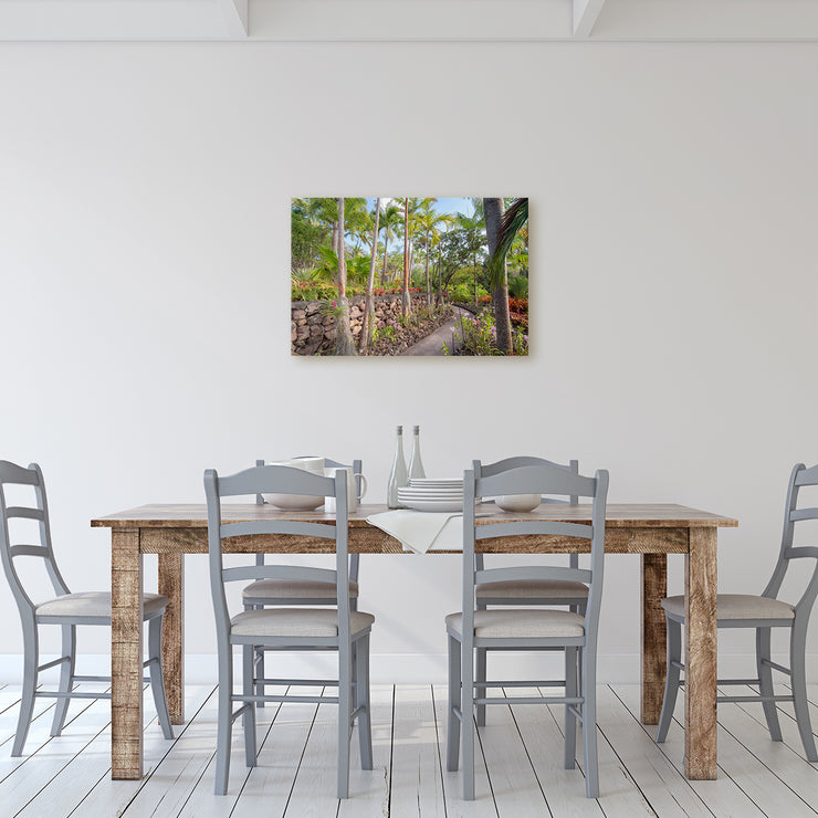 Canvas print of Nevis Botanical Gardens I by Yuri A Jones