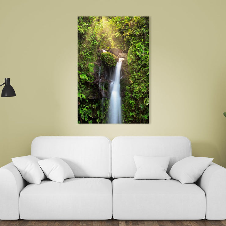 Canvas print of Ray of Light at Emerald Pool by Yuri A Jones