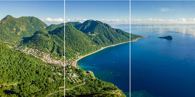 Soufriere From Above (Split) by Yuri A Jones