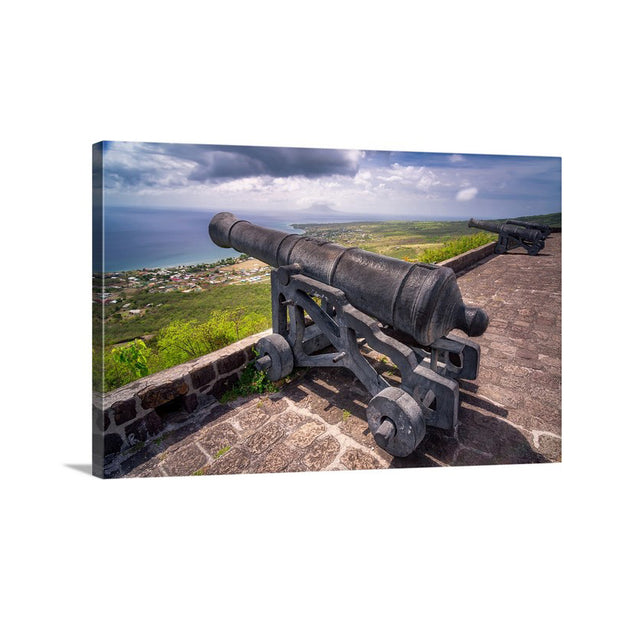 Canvas print of Brimstone Hill Cannon II by Yuri A Jones