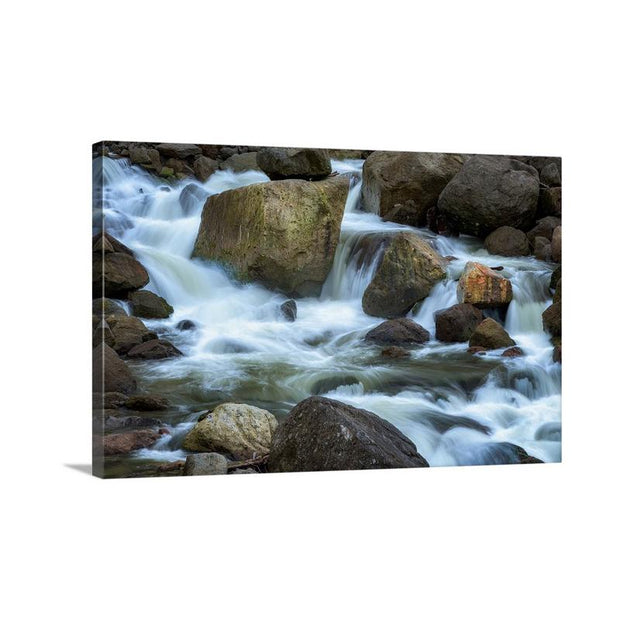 Canvas print of Illuminated Rocks by Yuri A Jones