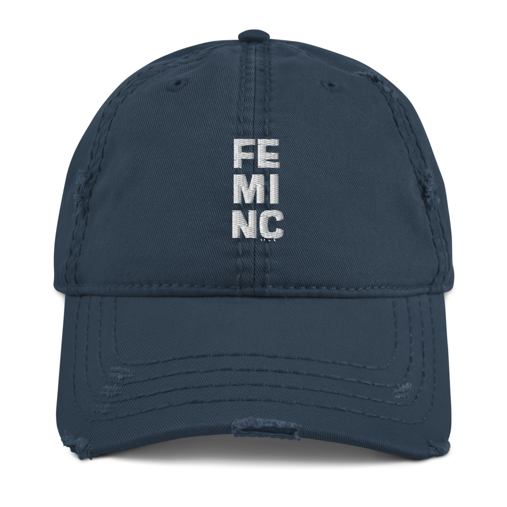 FEMINC Distressed Dad Hat