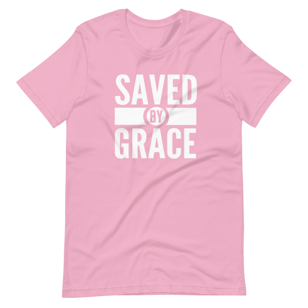 Saved By Grace Short-Sleeve Unisex T-Shirt