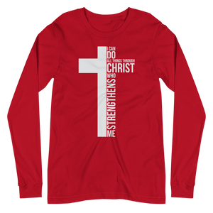All Things Through Christ Unisex Long Sleeve Tee