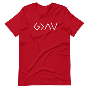 Graphic God is Greater Short-Sleeve Unisex T-Shirt