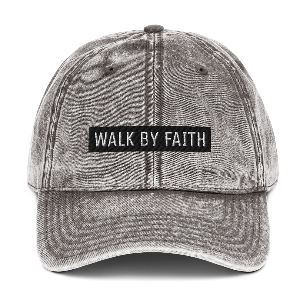 BY FAITH Vintage Cotton Twill Cap