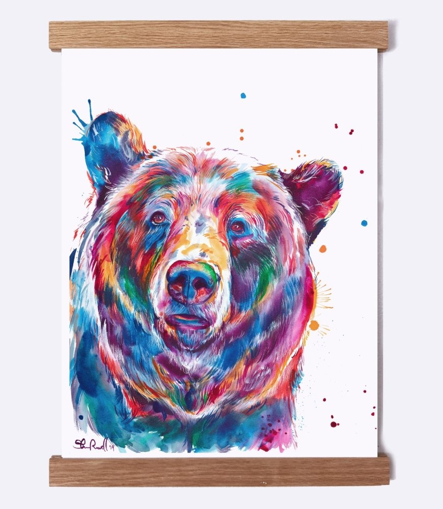 Bear - Watercolor Print - Shaunna Russell