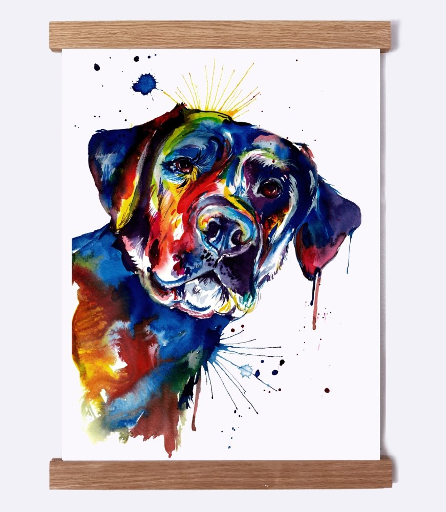 Black Lab 2 - Watercolor Print - Shaunna Russell