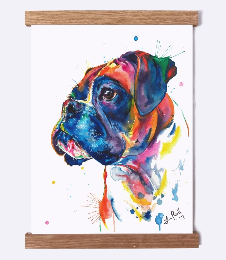 Boxer - Watercolor Print - Shaunna Russell