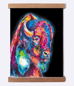 Buffalo on Black - Watercolor Print - Shaunna Russell