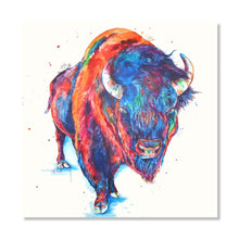 Load image into Gallery viewer, Buffalo Watercolor Original Painting - Shaunna Russell