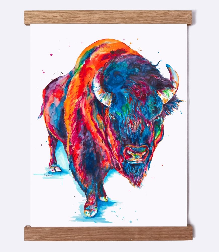 Buffalo - Watercolor Print - Shaunna Russell