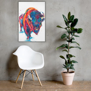 Buffalo (with body) - Canvas Print - Shaunna Russell