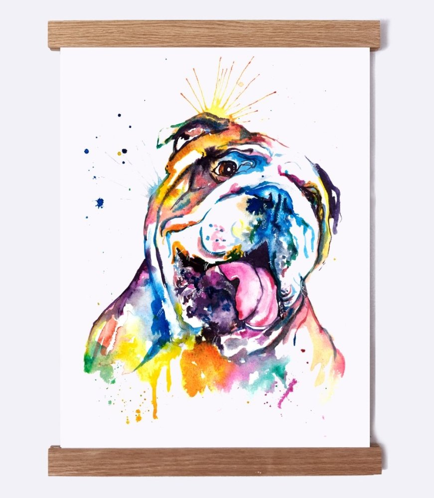Bulldog - Watercolor Print - Shaunna Russell
