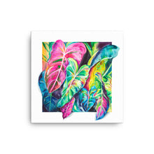 Load image into Gallery viewer, Elephant Ear Plant Watercolor Canvas Print