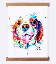 Load image into Gallery viewer, Cavalier King Charles - Watercolor Print - Shaunna Russell