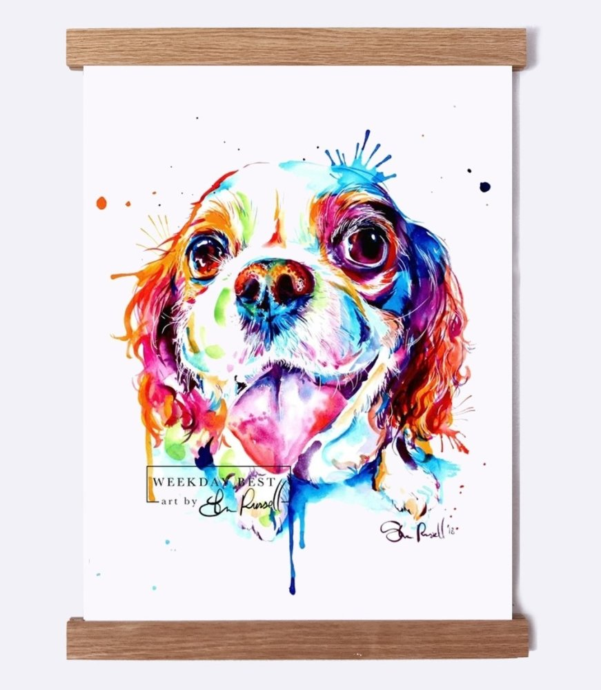 Cavalier King Charles - Watercolor Print - Shaunna Russell