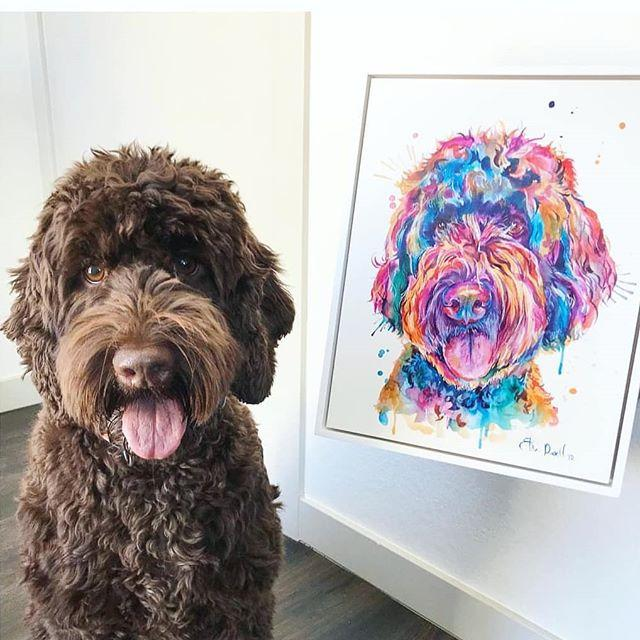 Commissioned Watercolor Pet Portrait - Shaunna Russell