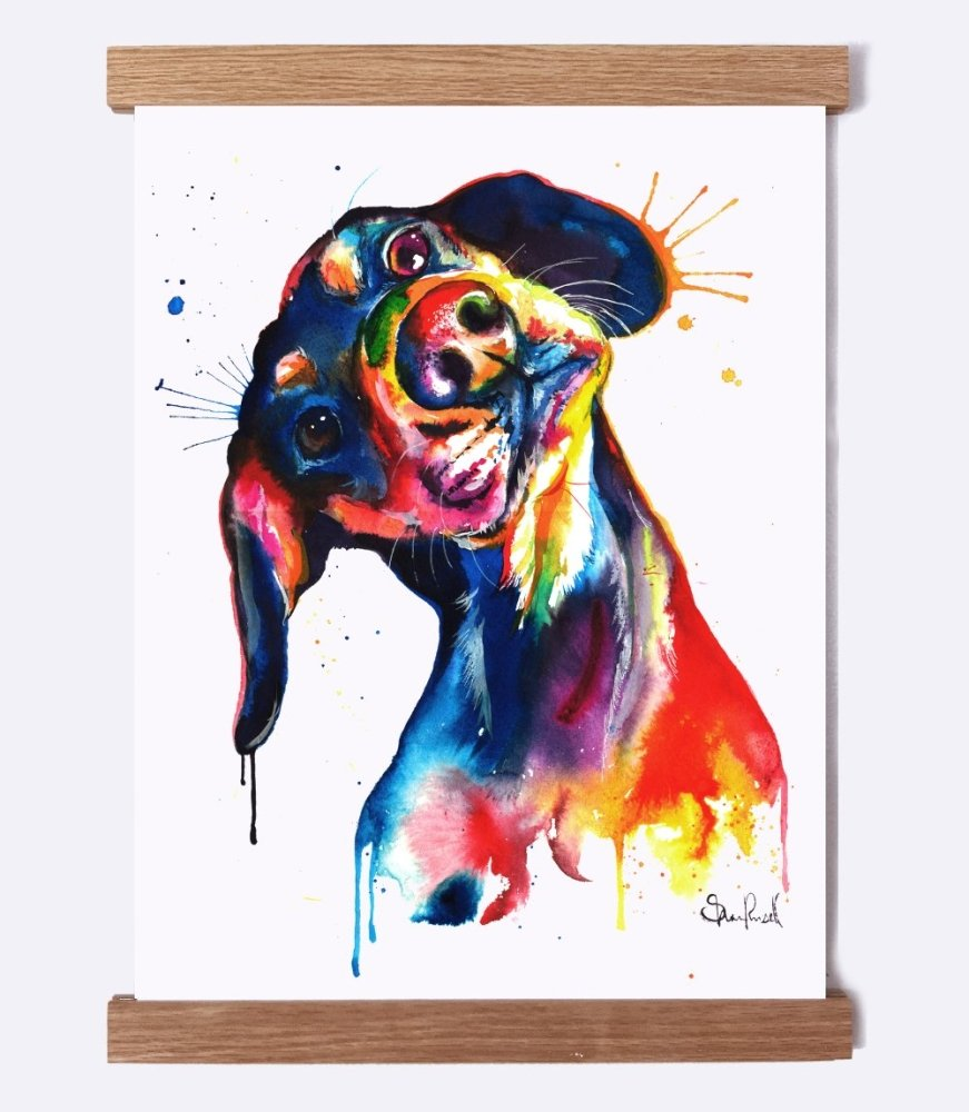 Dachshund - Watercolor Print - Shaunna Russell