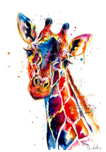 Load image into Gallery viewer, Giraffe - Watercolor Print - Shaunna Russell