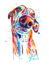 Load image into Gallery viewer, Greyhound - Watercolor Print - Shaunna Russell